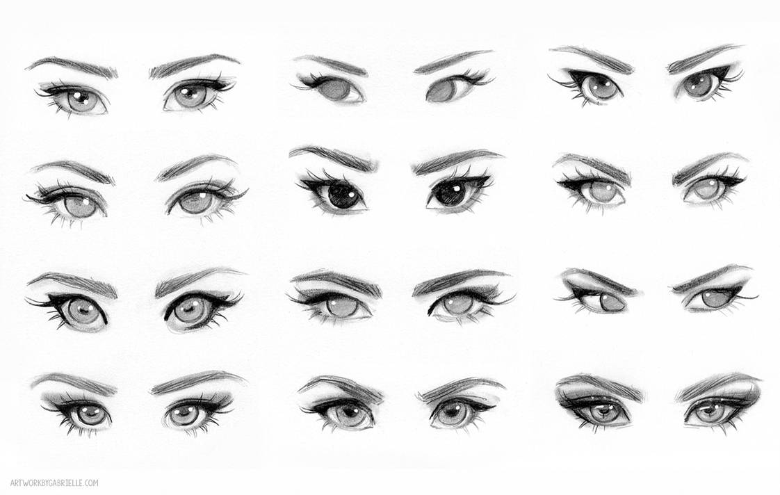 Eye Reference By Gabriellebrickey On Deviantart Face Drawing