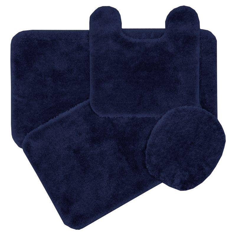 Simple Soft Navy Blue Bath Rugs : Navy Blue Bath Rugs