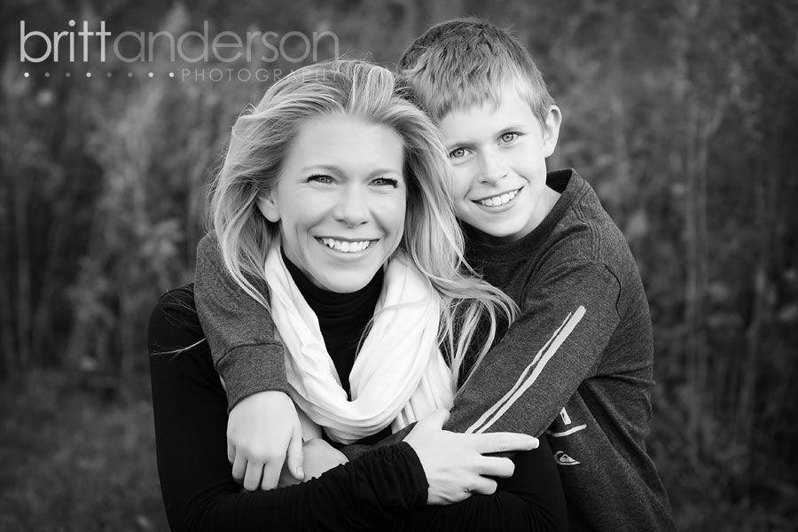 Every mom needs photos like this with their kids!  I love the dreamy black and white!