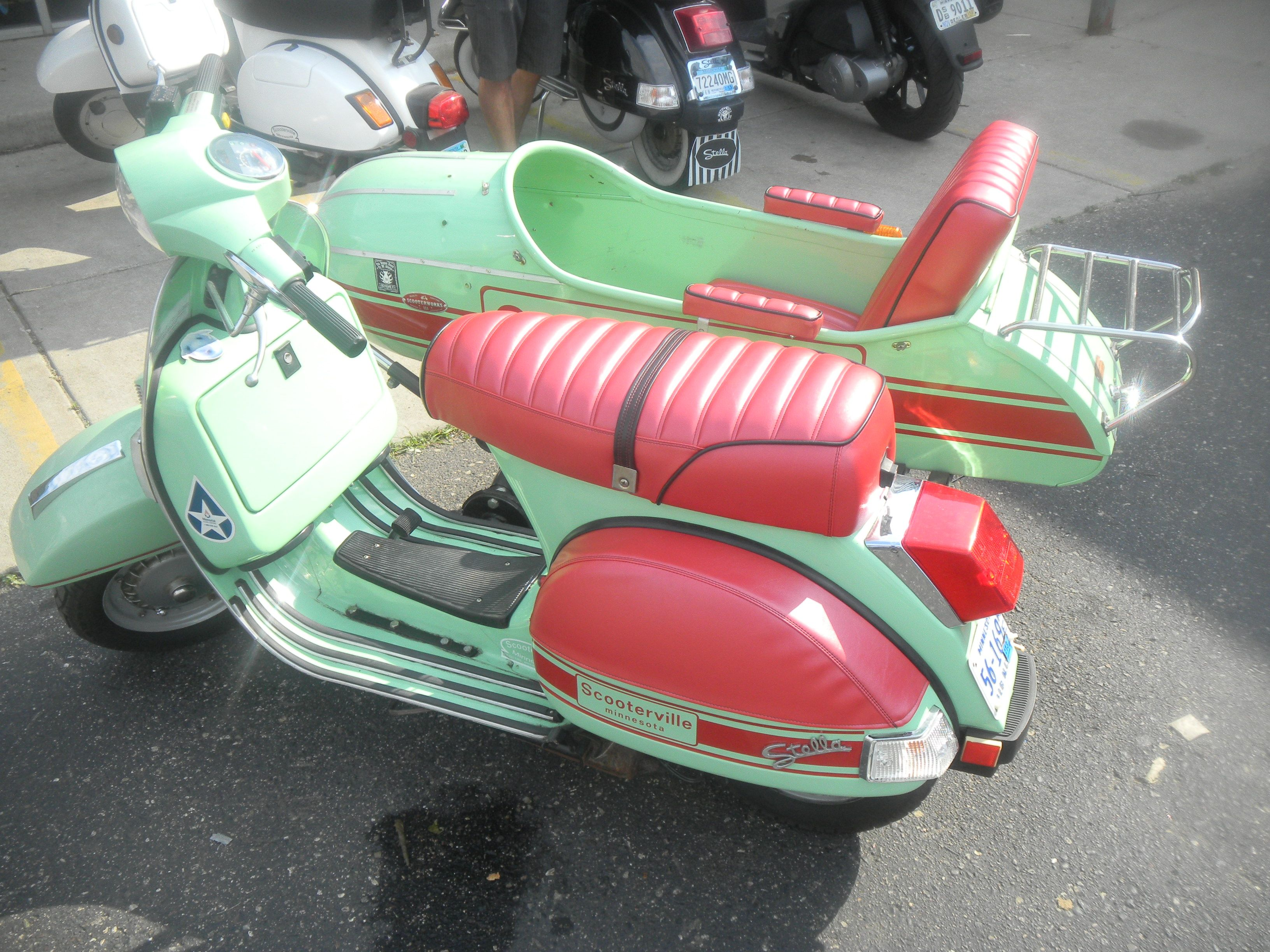 Stella scooter and sidecar