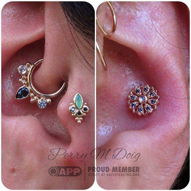 Check out this beautiful setup by APP member @perrymdoig ! Stop by and see Perry at Rose Golds in San Francisco, CA! He can definitely help you sparkle. #safepiercing #appmember #awesome #love #smile #piercing #bodypiercing #jewelry #bodyjewelry #fashion #ear #earpiercing #rad #rosegoldsf #sanfrancisco #highfashion #bf