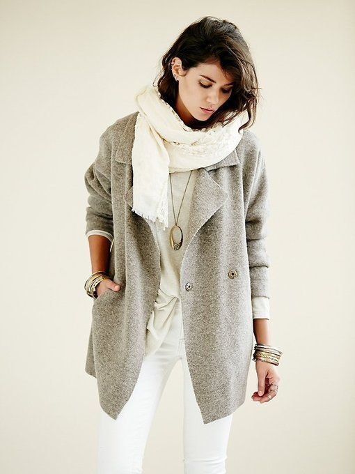 deb5add9d898b0 Slouchy Sweater Jacket by Free People | My Style Pinboard | Slouchy ...