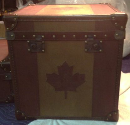 the first timothy oulton white star canada flag trunk made for luxe