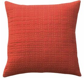 Pillow - Denyse Schmidt Orange Big Stitch