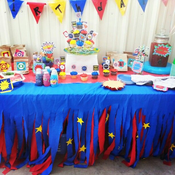Superhero birthday party birthidy birthday Pinterest