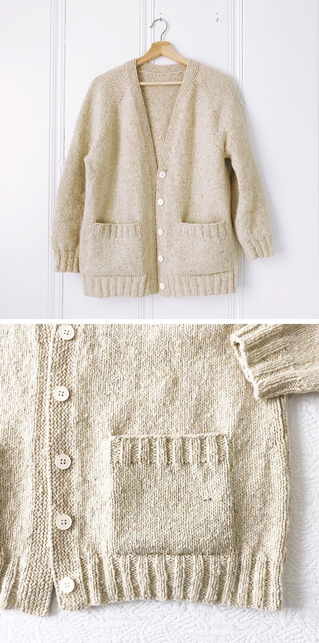 Finished: Ivory cardigan (free pattern) | knit | Pinterest | Labores ...