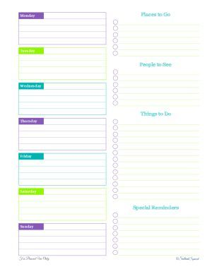 personal planner free printables time management pinterest