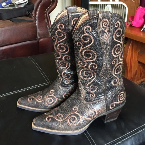 Ariat Cowboy Boots | Brown boots, Shopping and Leather
