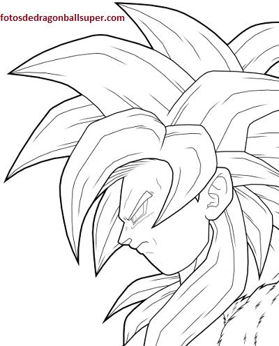 Faciles Dibujos Para Imprimir Y Colorear De Goku En Fase 4 Paperblog Goku A Lapiz Dibujo De Goku Goku Dibujo A Lapiz