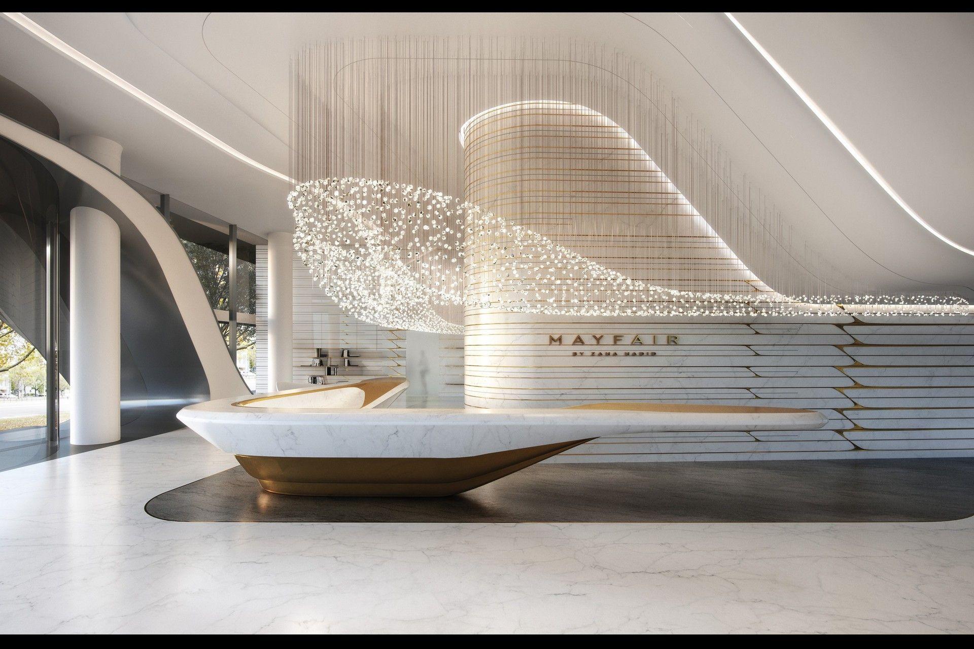Mrpstudios Hotel Lobby Design Lobby Design Zaha Hadid Interior