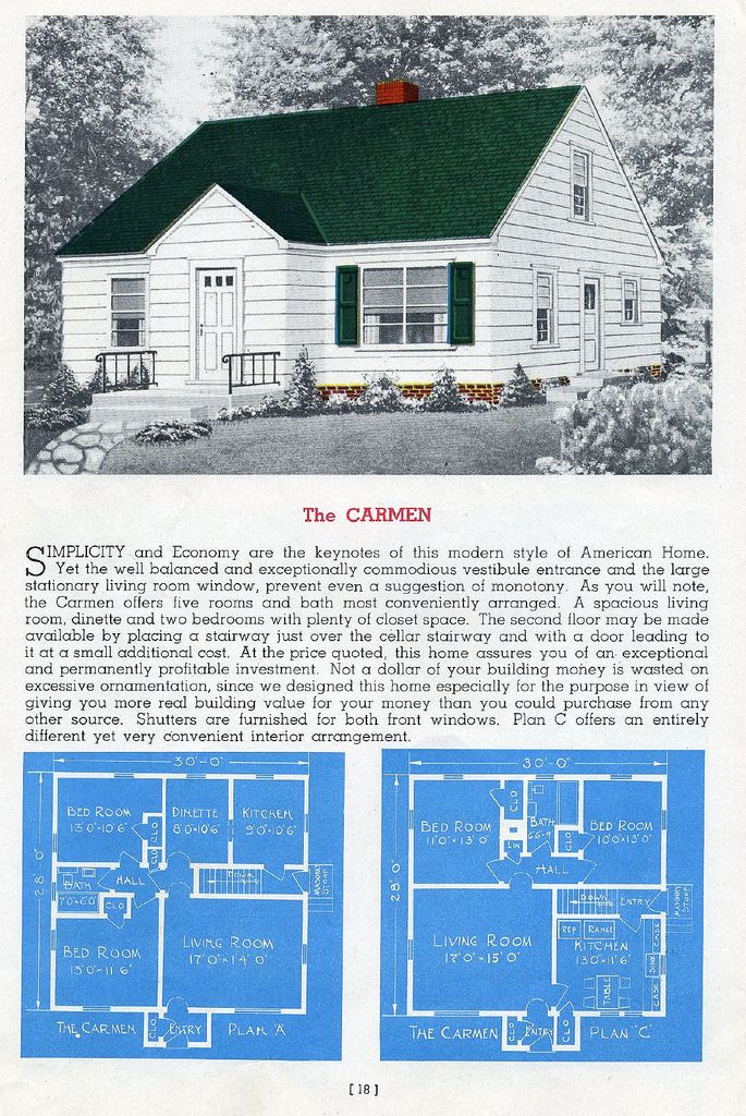 Sterling Homes 1945 Cape Cod House Plans Cape Cod House Minimal Traditional