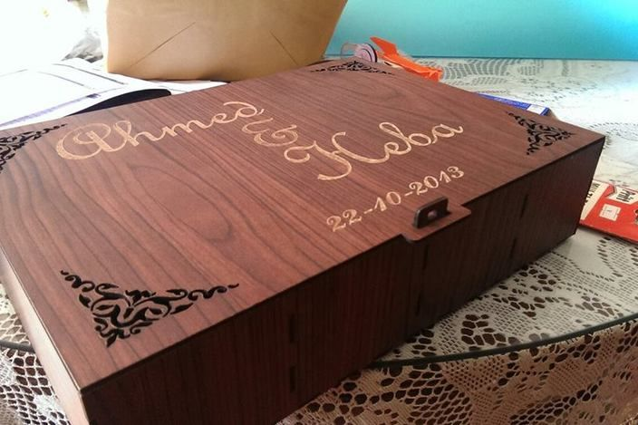 Laser cut wooden box - AutoCAD, SOLIDWORKS, Other - 3D CAD model
