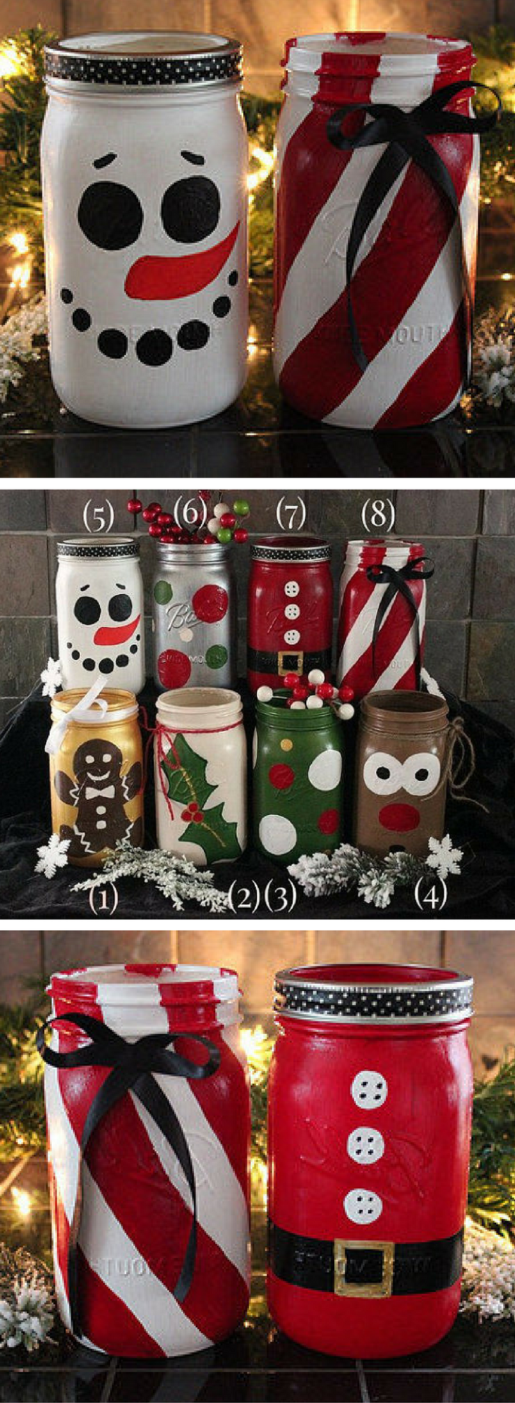 My Aunt Made Something Like This It S So Creative And Crafty Christmas Jars Christmas Mason Jars Christmas Crafts