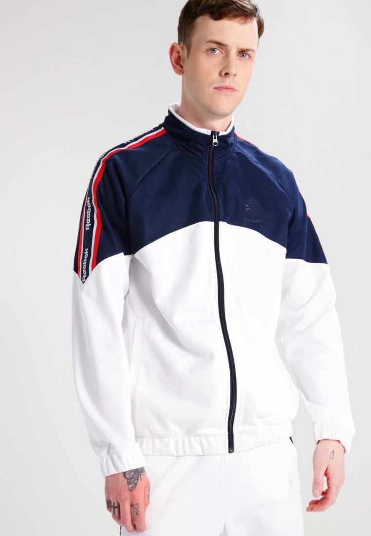 a091fb22eda Reebok Classic. Tracksuit top - white. Fit regular. Outer fabric  material 52% cotton