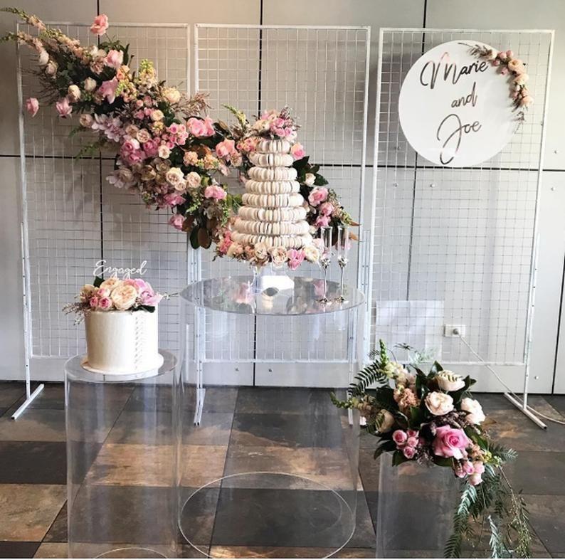 Acrylic x5pcs wedding pedestal columns for cakes cake