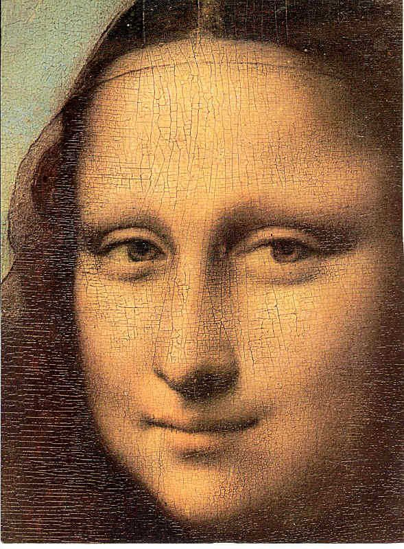 The Mona Lisa has no eyebrows.  In the Renaissance era, it was  fashion to shave them off!