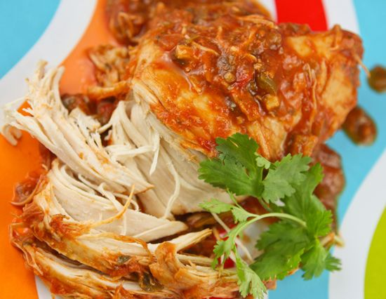 Slow Cooker Cilantro Lime Chicken via Pip & Ebby - oh so tender, juicy and flavorful!