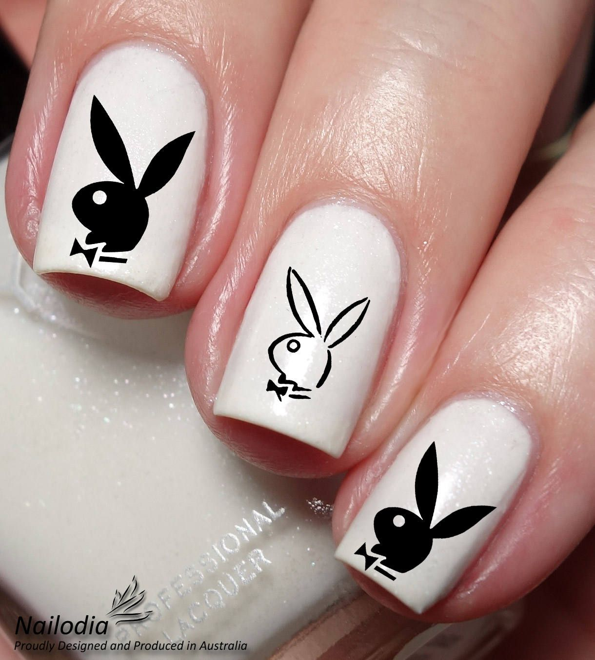 Play Bunny Boy Nail Art Sticker Water Transfer Decal by