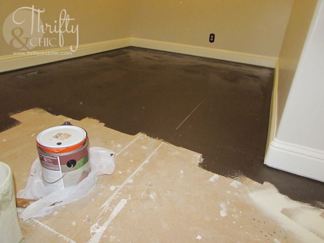 How To Paint Plywood Sub Flooring To Resemble Wood Floors