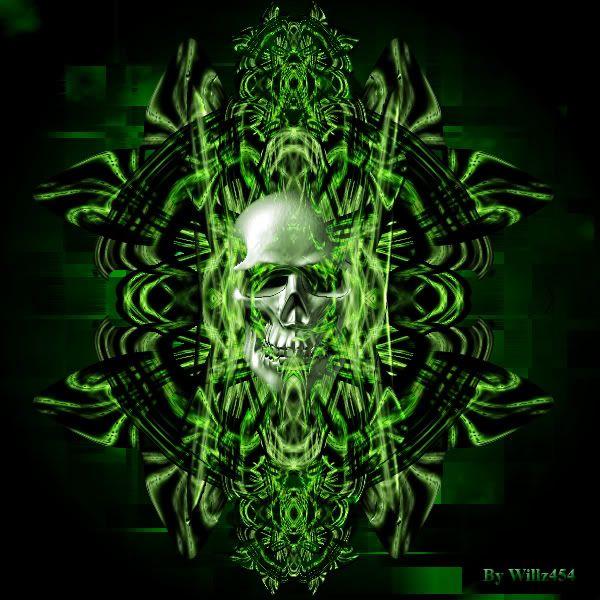 Green Skulls Wallpaper Scary Wallpapers For Desktop