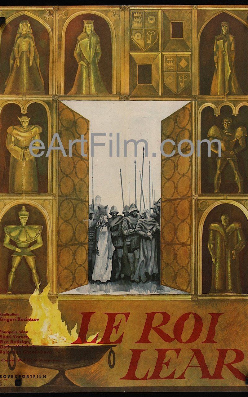 King Lear 1971 22x33 Russian poster for French release #ShakespeareSunday