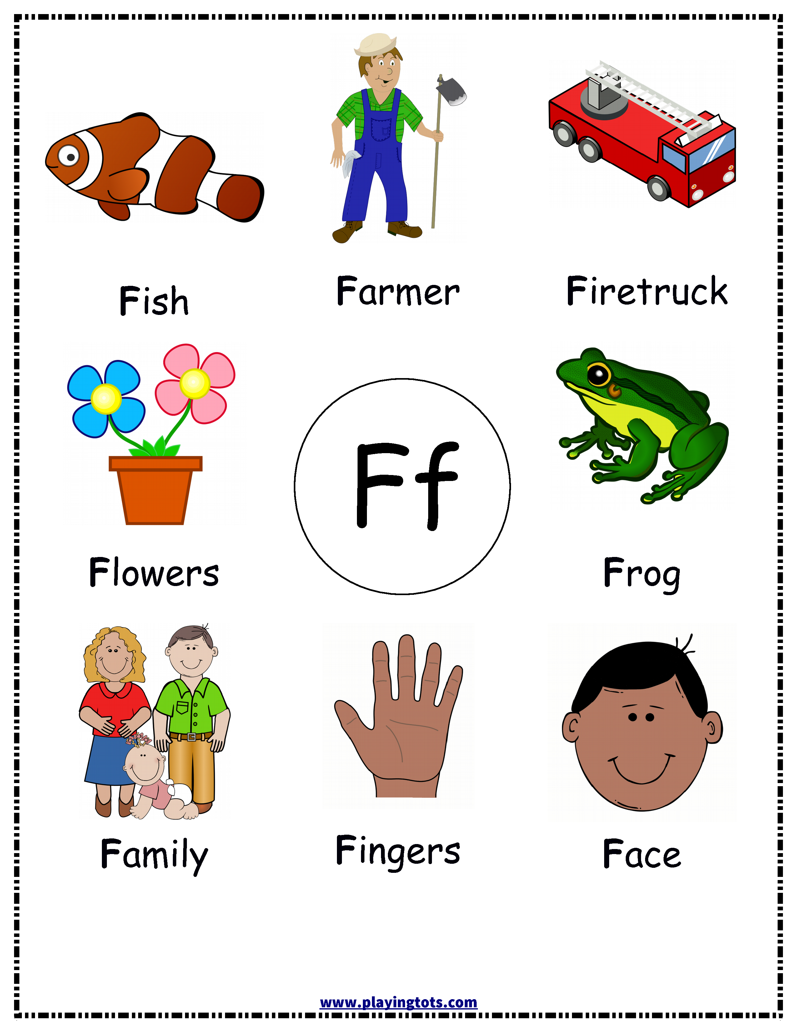 f words for kids free printable alphabets chart pictures toddler 10593
