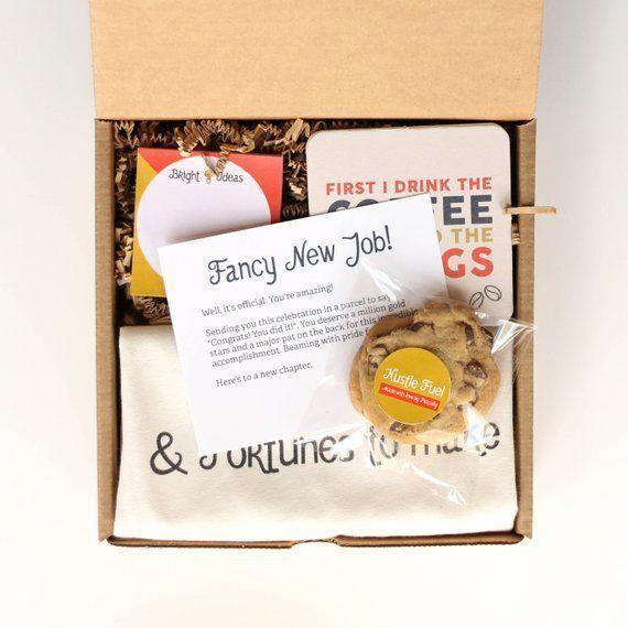 New Job Gift Box New Job Gift For Her New Job Gift For