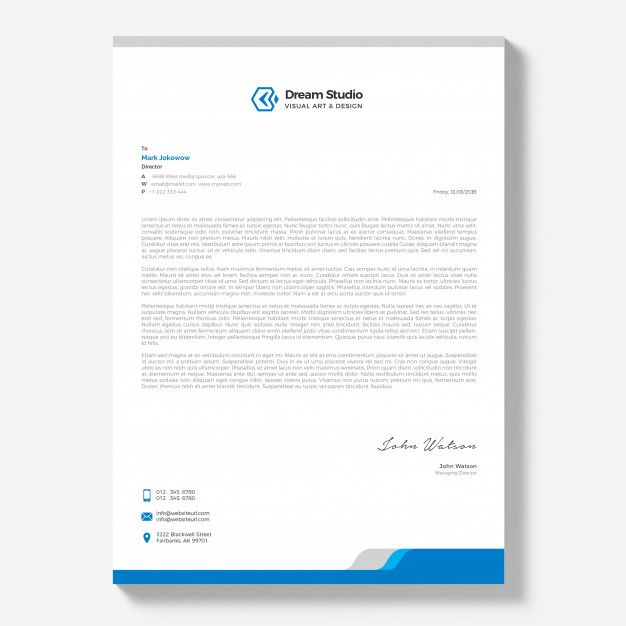 letterhead template free download letterhead design business