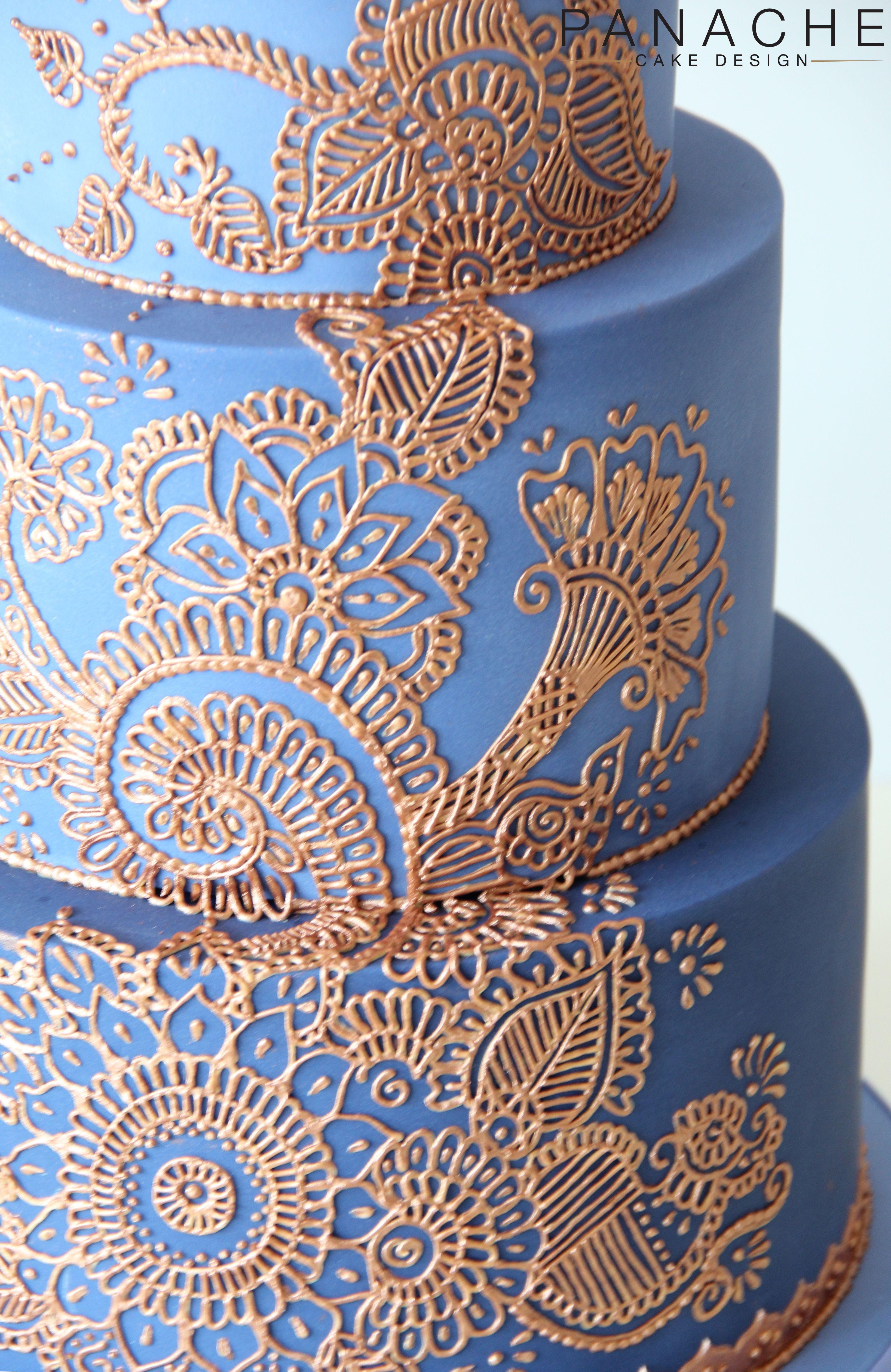 close up details henna cake London weddingcake wedding