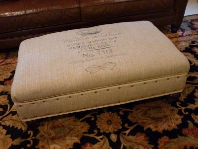 Forever In Clover: French Burlap Ottoman - Oui! Oui!
