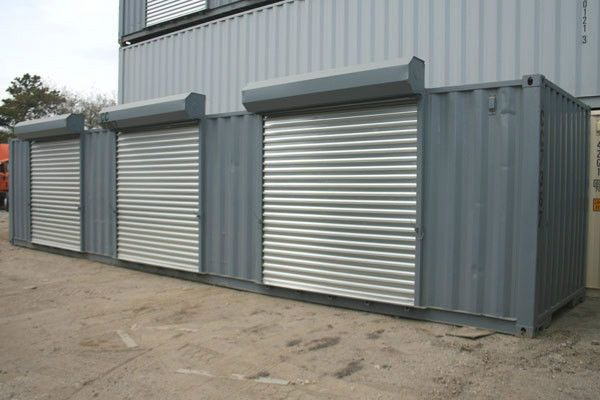 Storage Container Storage Units With 3 Rollup Doors Business Amp Industrial Mro Amp Industri Storage Containers Container House Steel Storage Containers