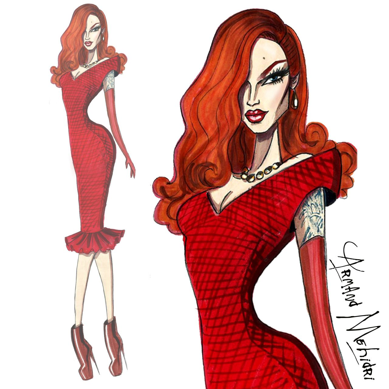 FASHION ILLUSTRATIONS by ARMAND MEHIDRI. — Miss Fame - by Armand ...