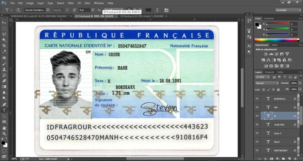 Id Card France Regarding French Id Card Template In 2020 With Regard To French Id Card Template In 2021 Id Card Template Psd Templates Photoshop Card Template