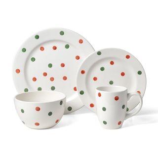 Mini Cakes Pattern Bowls /& Mugs Cake Boss Serveware 12-Piece Set Porcelain Dessert Plates Print