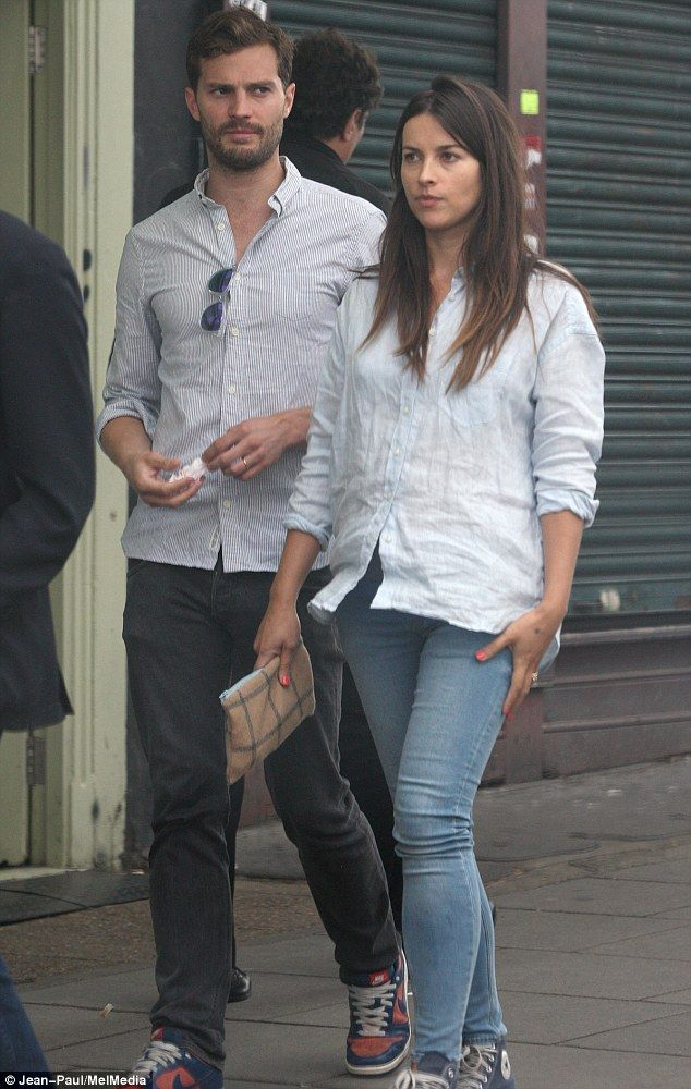 Jamie Dornan out with his wife in London   Lipstick Alley