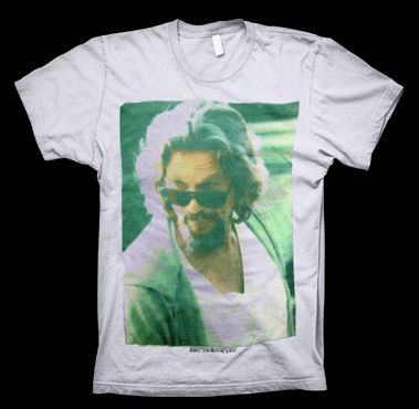 Big Lebowski - Portrait T-Shirt from http://www.catacombscds.com/product/Big_Lebowski_-_Portrait_T-Shirt.html