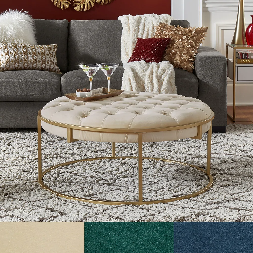 Overstock Com Online Shopping Bedding Furniture Electronics Jewelry Clothing More In 2021 Tufted Ottoman Coffee Table Cocktail Ottoman Round Tufted Ottoman [ 1000 x 1000 Pixel ]