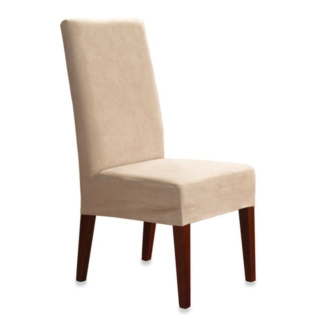 Sure Fit Soft Suede Shorty Dining Room Chair Slipcover Slipcovers For Chairs Dining Room Chair Slipcovers Dining Chair Covers