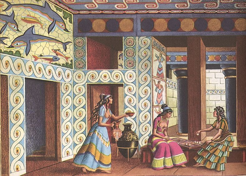 Minoan women google search knossos mycenae sister for Ancient greek decoration