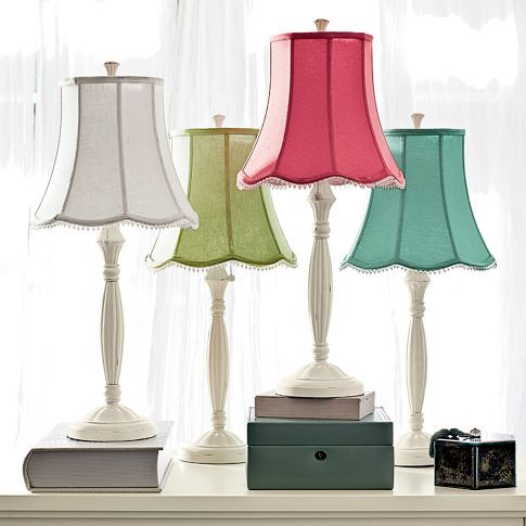 Pottery Barn Teen Lamp Shades, blue or pink? Leona wants pink ...