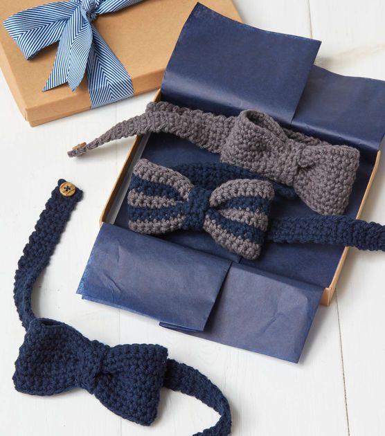 How To Make Crochet Bow Tie | crochet for headsand necks | Pinterest ...