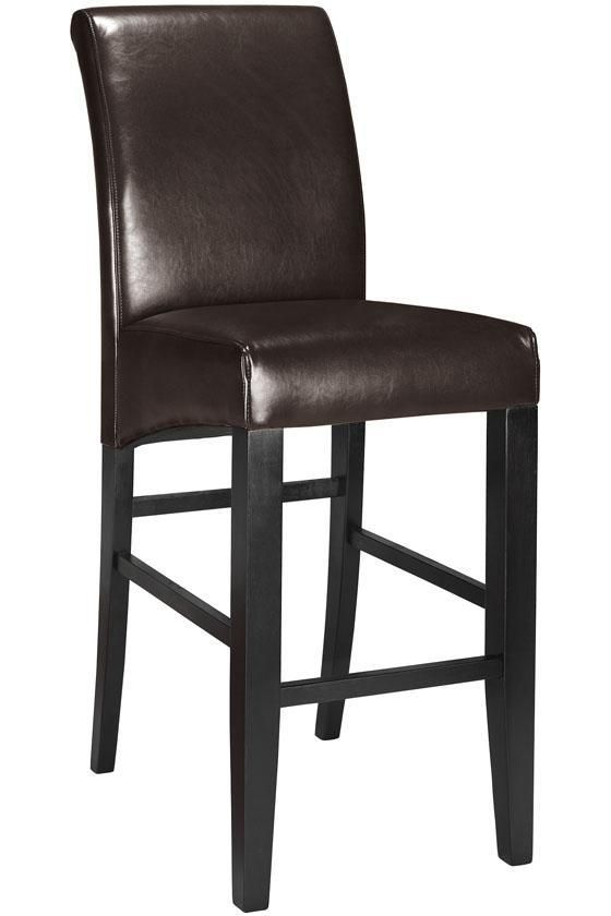 parsons rolled back leather bar stool got em for 120 for 2 from a local store pinned it. Black Bedroom Furniture Sets. Home Design Ideas