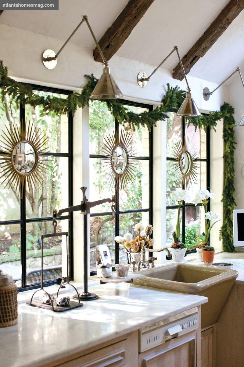 Kitchen sink window decor  christmas lobe  sleigh bells ring  pinterest  christmas kitchen