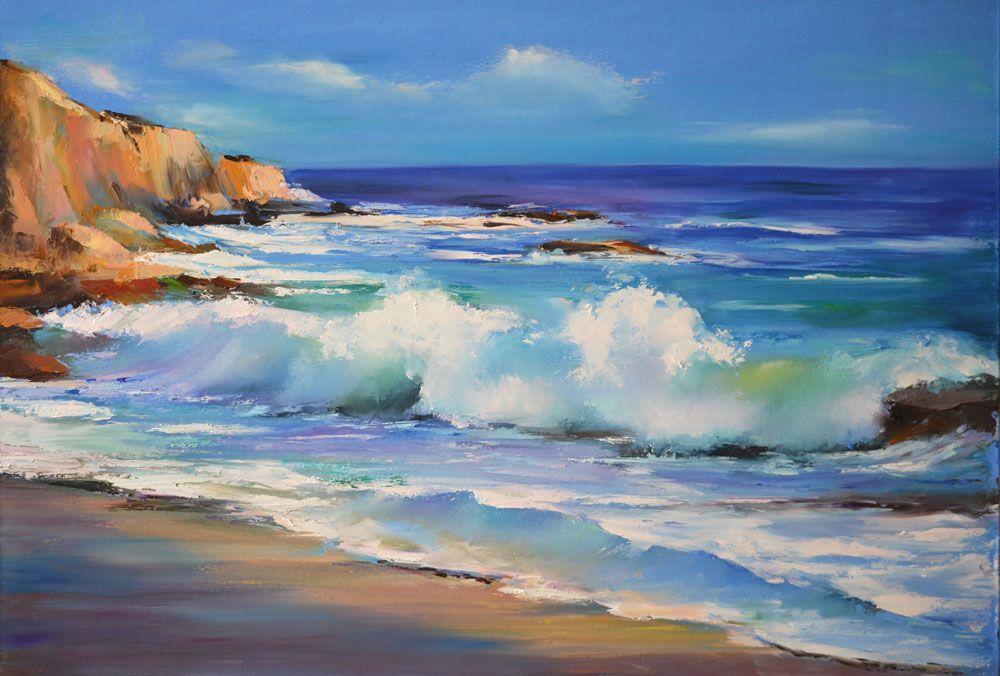 Картинки маслом морской пейзаж