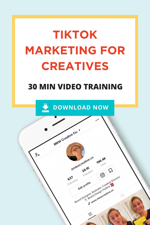 Tiktok For Business Video Training Mkw Creative Co Business Video Social Media Advice Social Media Marketing