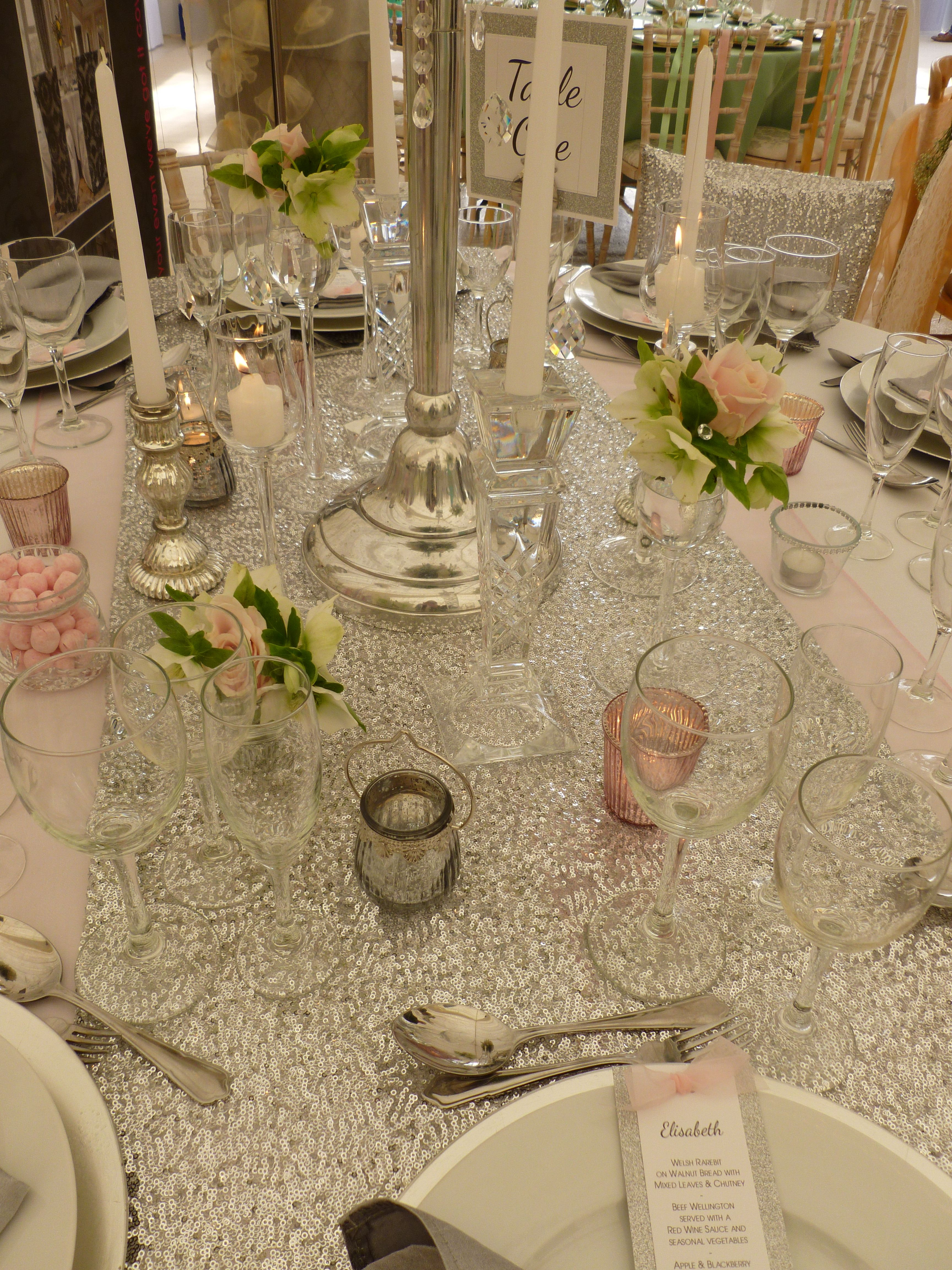 Xmas wedding decorations november 2018 Sequin table runner by Simply Bows and Chair Covers gorgeous