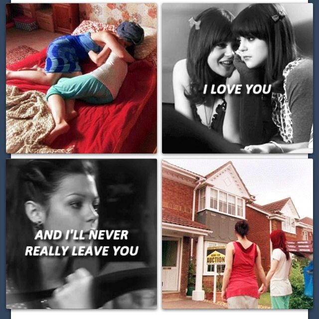 Emily and Katie from Skins UK aka Megan and Kathryn Prescott