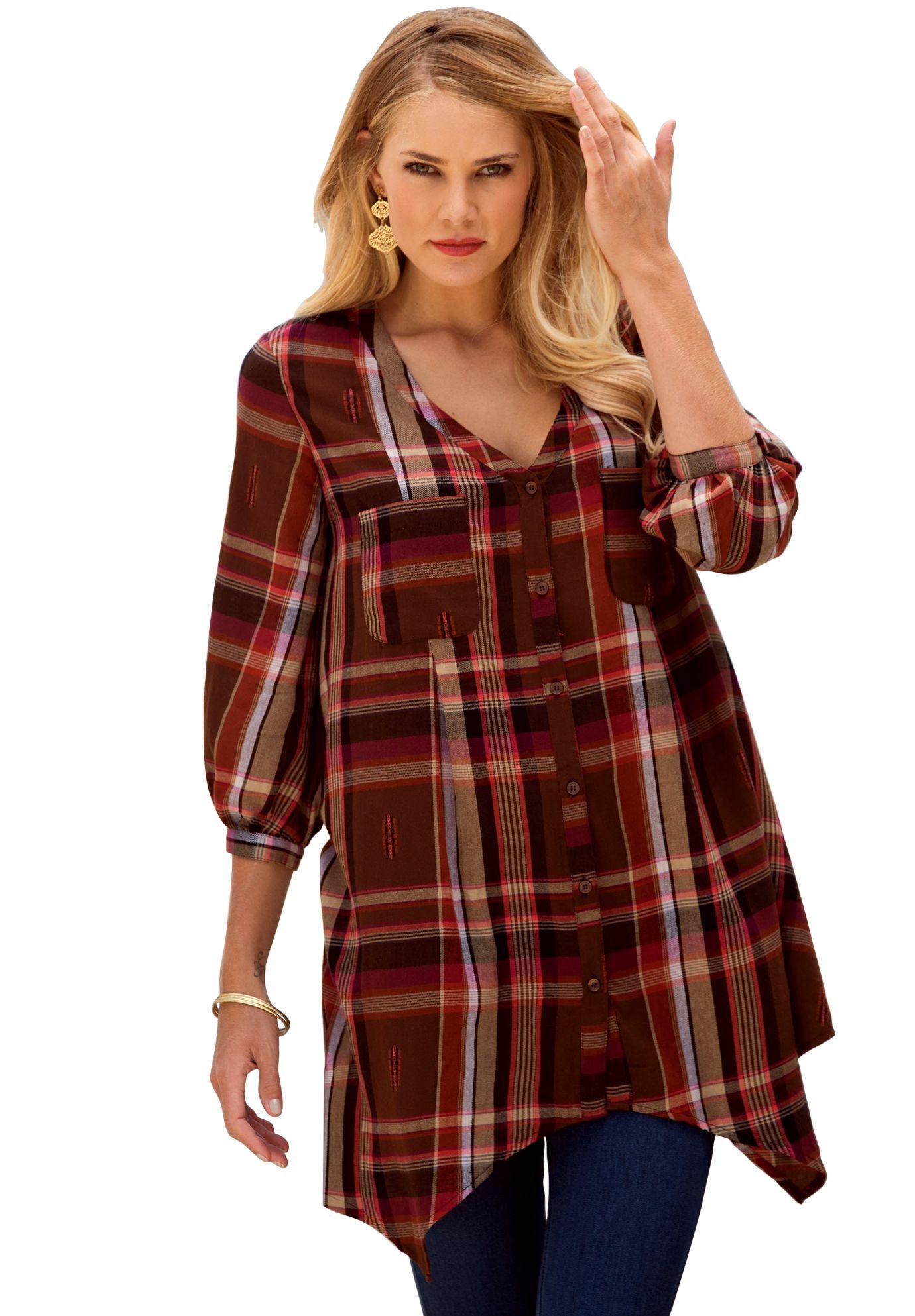 Flannel shirt plus size  Plus Size Plaid Flannel Bigshirt  shirts  Pinterest  Tartan