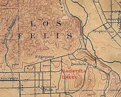 Silverlake Los Angeles Map.Map Of Atwater East Hollywood Franklin Hills Los Feliz Silver