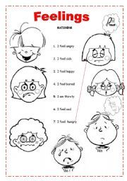 English worksheets: Feelings worksheets | Education - First grade ...